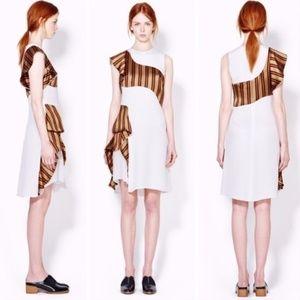 3.1 phillip lim // ruffle cascade stripe dress